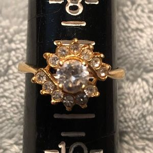 Jewelry - NWOT Gold Plated Ring with Crystals from Swarovski